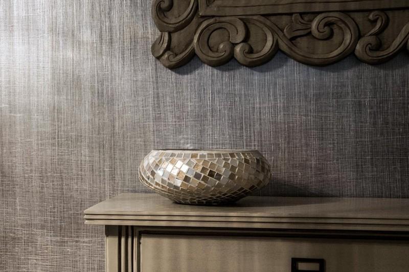 Stylowe Meble I Metaliczny Efekt Płótna Na ścianie Art